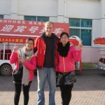 Me in Nanjiecun. There are countless photos like this on Chinese people's cameras, all over the country.