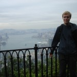 Me in Hong Kong, overlooking the city from Victoria Peak.